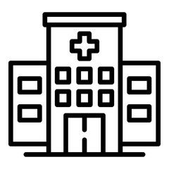 City Hospital Building Icon Outline City Hospital Building Vector Icon For Web Design Isolated On White Backgro Building Icon Business Icons Vector Web Design
