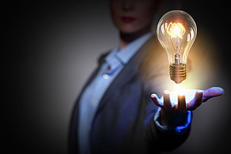 Creative bulb business people business background material