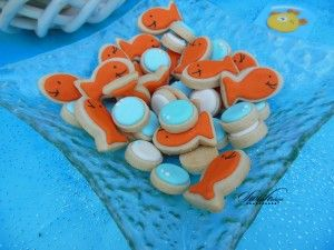 Bubble Guppies Birthday Party Ideas - printables - fish and bubble cookies from @auntiebeas  #swishprintables