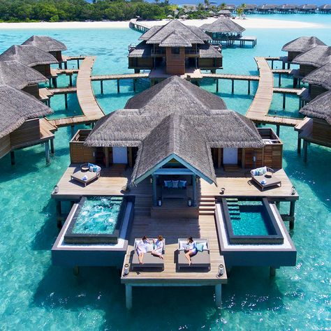 10 Best Travel Ideas Today (with Pictures) - Live it up amidst a lush tropical habitat soft white sandy beaches and timeless ocean views. Come experience Vakkaru Maldives experience luxury Dream Vacation Spots, Vacation Places, Vacation Destinations, Vacation Trips, Dream Vacations, Greece Vacation, Romantic Vacations, Vacation Travel, Beach Travel