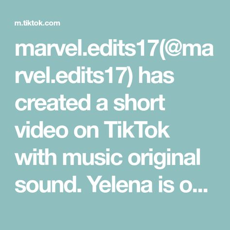 marvel.edits17(@marvel.edits17) has created a short video on TikTok with music original sound. Yelena is one of my favorites now #fypシ #yelenabelova #florencepugh #foryoupage #foryou #xyzbca #fyp