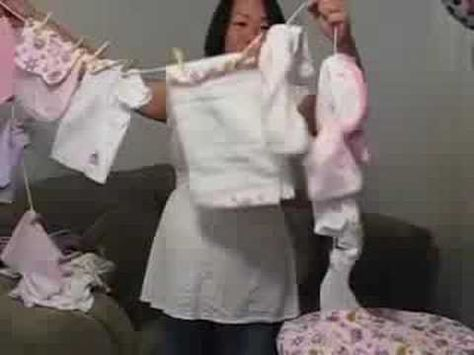 Clothesline Baby Shower gift