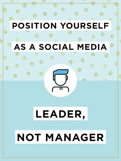 """The title of """"social media manager"""" is a blanket term that applies to anyone who implements the brand's social media strategy, develops brand awareness, increases inbound traffic and promotes product or service adoption. But to reach your company's apex of social media presence, you should really be a social media leader."""
