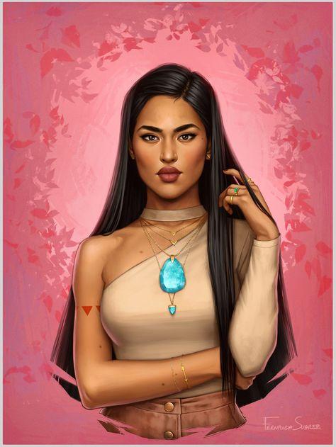 Version moderne des princesses Disney par Fernanda Suarez