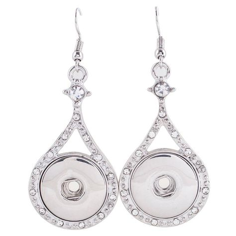 Fits Ginger Snap GINGER SNAPS Hook Earrings 18mm Magnolia Vine Earring Button