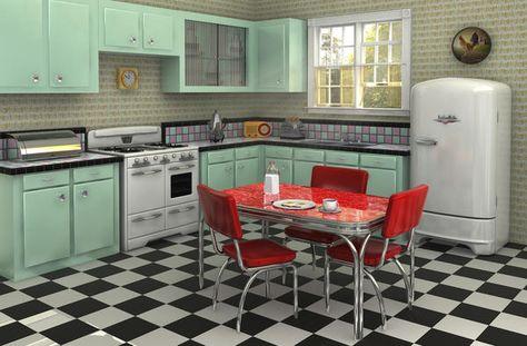 belle deco cuisine style retro | Cuisine rétro, Cuisine ...