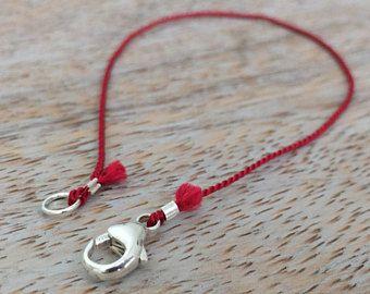 5096a1fadd946 Kabbalah Red String Bracelet for Men Thin Bracelet Silk Bracelet ...