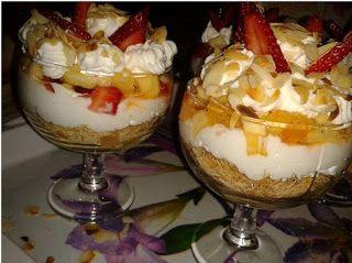وصفات شهية كؤوس كنافة القطايف وكريمة شانتي Desserts Food Pudding