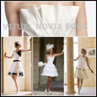 a5530d0605 VIRTUAL NOVIA BOOK  VESTIDOS DE NOVIA CIVIL CORTOS (NOVEDAD ...