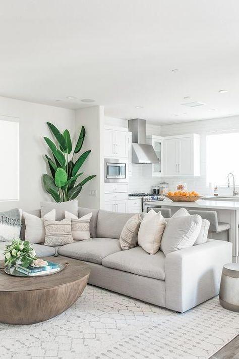Modern white living room decor ideas