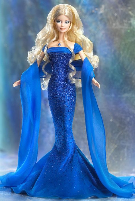 2003 September Sapphire Barbie - The Birthstone Collection