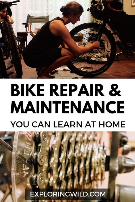 Every cyclist can learn about their bike and save money by practicing some basic DIY bike maintenance and repair skills. Here's a list of tasks you can learn on your own including links to helpful videos necessary tools and practical tips. Cycling Quotes, Cycling Tips, Women's Cycling, Cycling Jerseys, Diy Bike, Bici Retro, Olympia, Budget Planer, Commuter Bike
