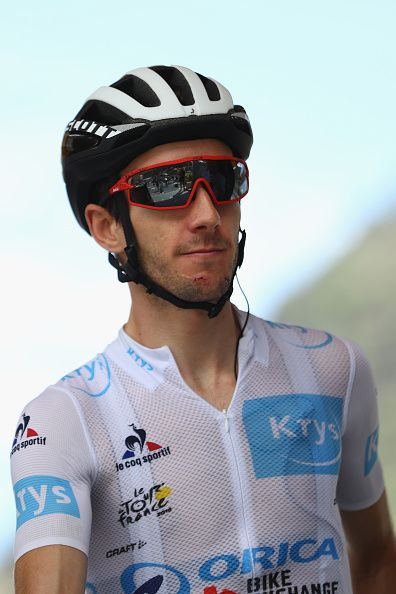 #TDF2016 Adam Yates of Great Britain and Orica BikeExchange at the signing in ahead of the 197km stage ten of Le Tour de France from EscaldesEngordany to...