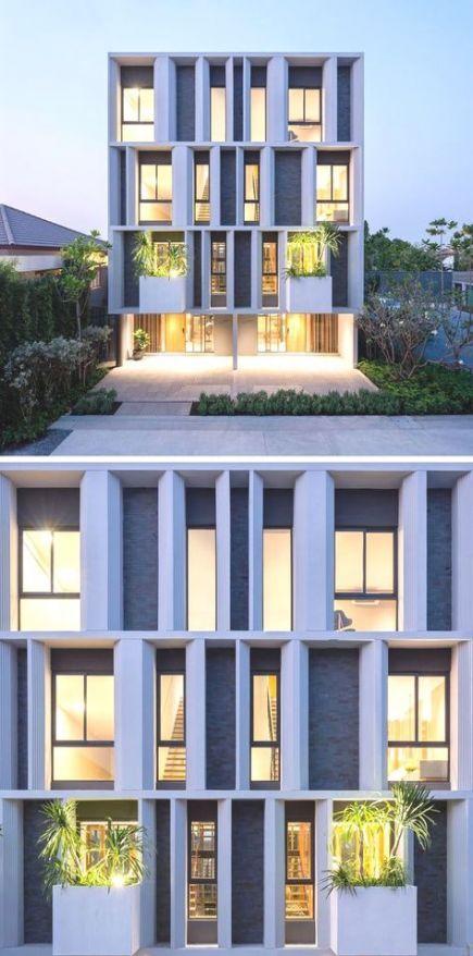 36+ Ideas Apartment Building Exterior Facades Townhouse #apartment