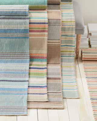Garnet Hill Woven Cotton Stripe Rug
