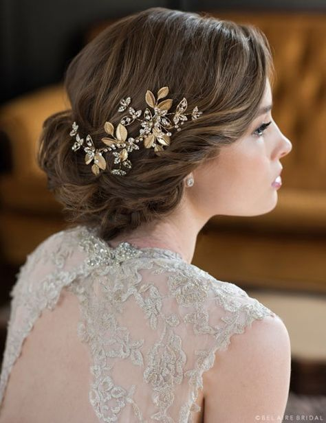 Bel Aire Bridal Hair Pins 1721 - Delicate hairpins of leaves. These petite pins make a perfect gift for your bridesmaids, too! Sold as a pair.