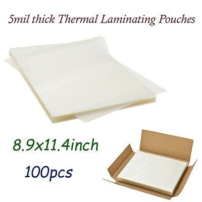 Sponsored Ebay 100 Clear Letter Size Thermal Laminator Laminating Pouches 9 X 11 5 Sheets 5 Mil In 2020 Laminators Pouch Lettering