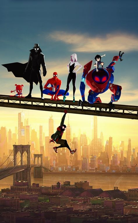 Movie, artwork, Spider-Man: Into the Spider-Verse, fan art, 950x1534 wallpaper