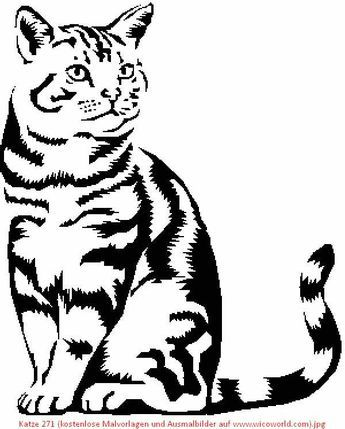 Animal Stencil Wood Burning Patterns Stencil Cat Drawing