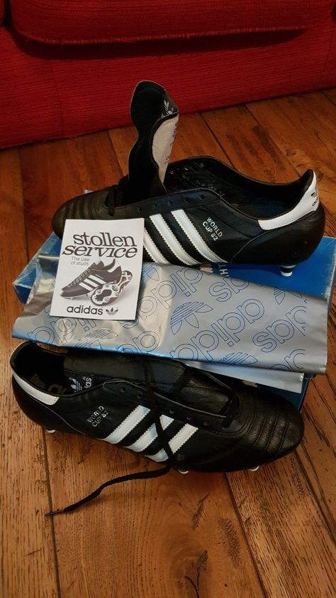 79b1ff38f ADIDAS VINTAGE SHOES WORLD CUP 82 NEW IN BOX FOOTBALL RARE 80s WEST GERMANY