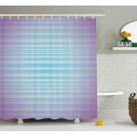 Modern Decor Shower Curtain Abstract Rising Colors Motif With