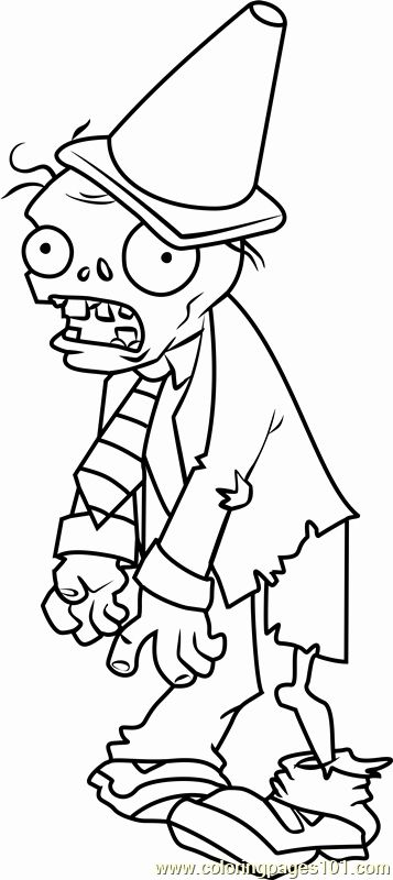 Plants Vs Zombies Coloring Page Elegant Conehead Zombie Coloring Page Free Plants Vs Zombies In 2020 Plants Vs Zombies Poppy Coloring Page Coloring Pages