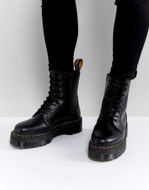 Dr Martens Jadon 8 eye platform boots in black | SHOE'S in