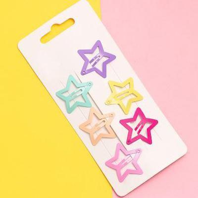 24PCS Girls Kids Children Hair Clips Snaps Head Star Butterfly Hairpins Gifts