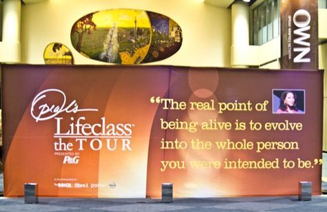 Lessons from Oprah's Lifeclass in Toronto: Part 1