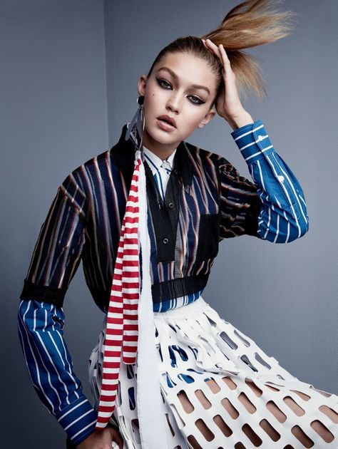 Gigi Hadid Squares Off In Patrick Demarchelier Images For Vogue US November 2015 — Anne of Carversville
