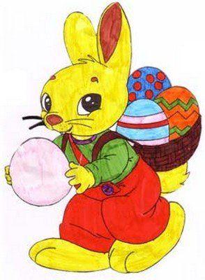 Resultado De Imagem Para Desenho De Coelho Da Pascoa Colorido Em