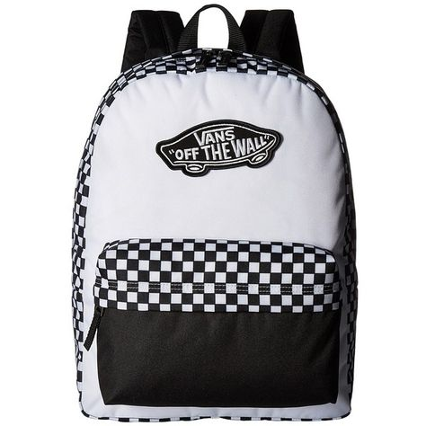 3b5b633c80a Vans Realm Backpack (Black/White Checkerboard) Backpack Bags ($31) ❤ liked  on Polyvore featuring bags, backpacks, vans backpacks, daypack bag, ...