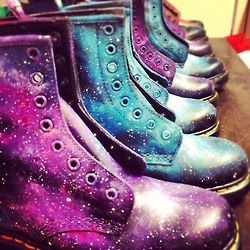 Hand Painted Gothic Dr Marten Boots | Dr martens boots