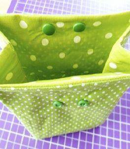 KINDERleicht und schön   Nähen mit Cherrygrön: Lunchbag, Utensilo, Kosmetikbeutel