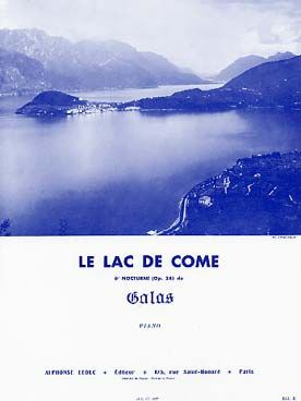 Galas Le Lac De Come 6 Nocturne Op 24 Particuliers 10 Marchands 25 Lac De Come Partitions De Chansons Partition Piano