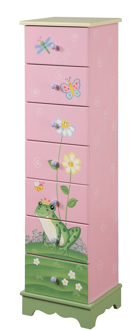 I would love to find a chest of drawers just this size and to paint it my own theme! It would be so much fun! Then I'd add my craft supplies into the drawers! Love it!