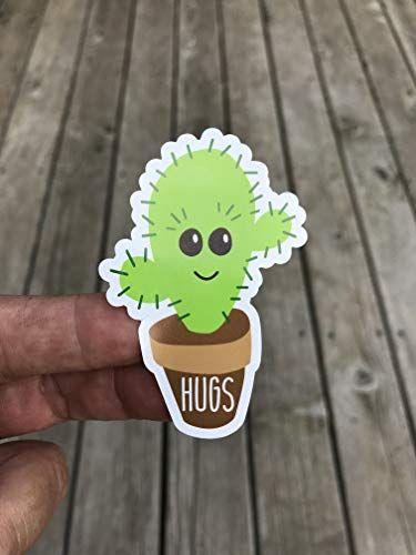 Cactus Hugs Funny Cacti Sticker ~ Water Bottle ~ Laptop ~ Tumbler ~ Vinyl Decal