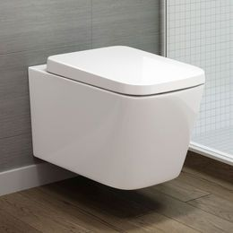 Florence Wall Hung Toilet Inc Luxury Soft Close Seat Badezimmer Zimmer Baden