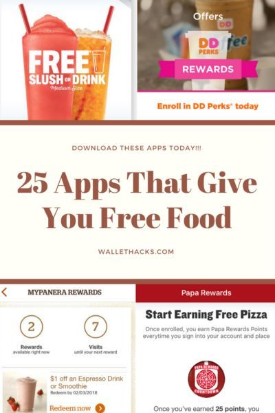 The 25 Best Restaurant Apps For Free Food Free Food Free Fast