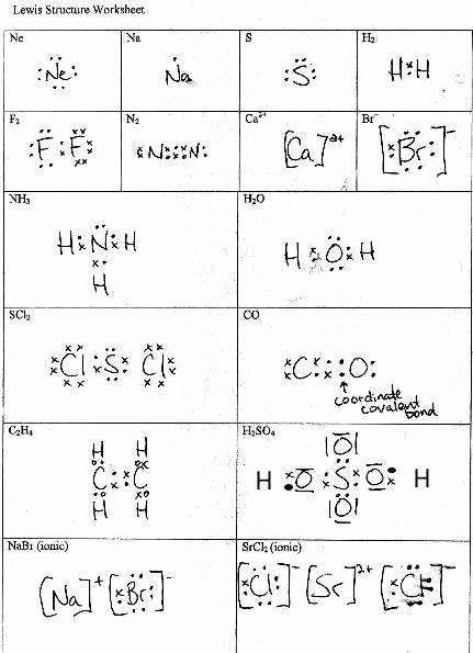 46 Lewis Dot Diagram Worksheet Chessmuseum Template Library V