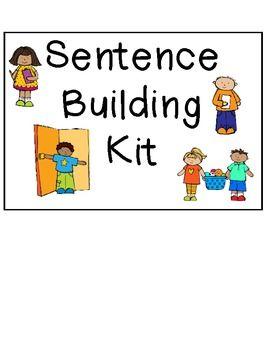 Sentence Building Kit Sentence Building Language Activities Expressive Language