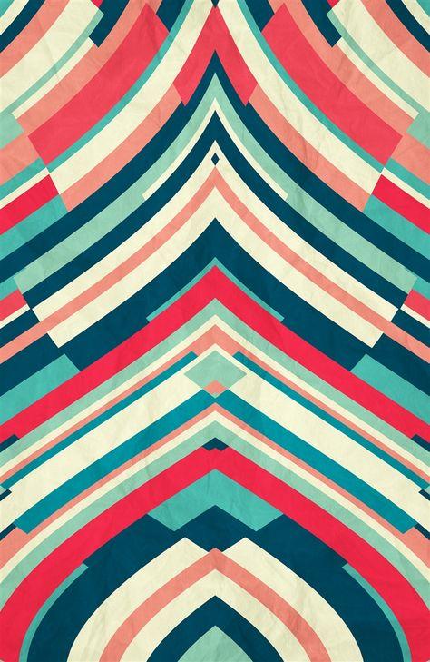 Chevron Stripe Goodnight Nobody - by Danny Ivan Art Print