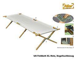 Drk Feldbett Xl Holzgestell 210 Cm A Bundeswehr Shop Raer