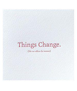 13 Unique Moving Announcements | DIY | Moving announcements, Change