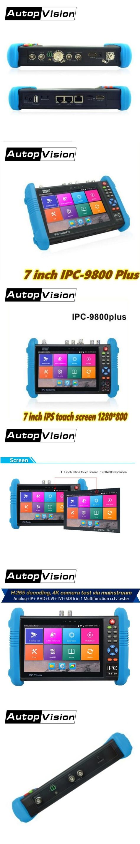 S Hdmi Tester Pictures Images On Ip Camera 7 Inch 9800 Plus 4k H265 H264 Cctv Analog Ahd Cvi Tvi Sdi