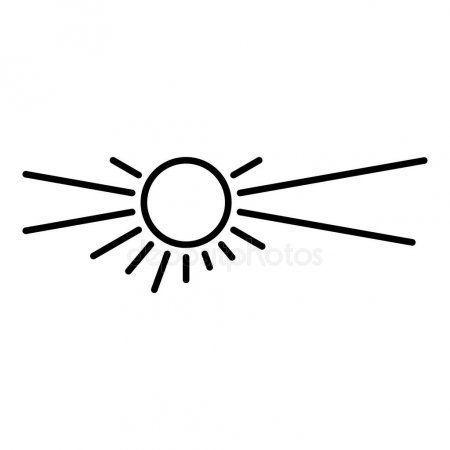 Desert Sun Icon Outline Style Stock Vector Ad Icon Sun Desert Outline Ad Sun Outline Sun Designs Icon