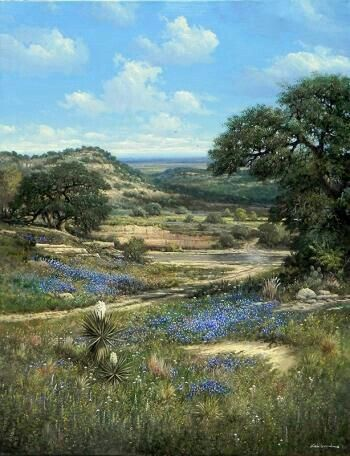 Pin By F G On Rainer Holmes Landscape Countryside Paintings Country Landscaping Southwest Art