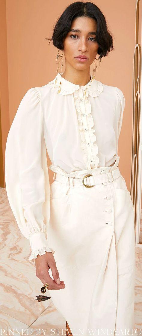 Ulla Johnson Fall 2021 Lookbook - Philipa Blouse #fall2021 #fw21 #womenswear #ullajohnson