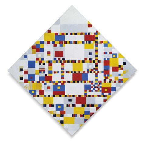 Piet Mondriaan Abstract Painting Victory Boogie Woogie