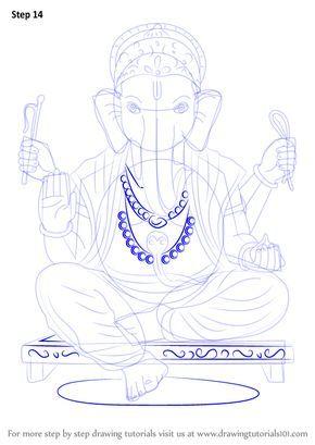 Learn How To Draw Ganpati Bappa Hinduism Step By Step Drawing Tutorials Ganesha Drawing Drawings Buddha Drawing